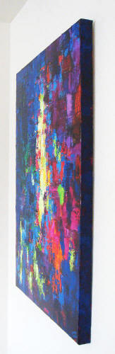 side view of abstract painting