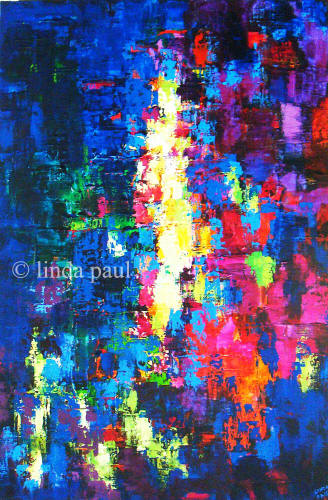 northern light original abstract art painting