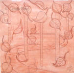 red chalk sketch for aspen bas-relief sculpture