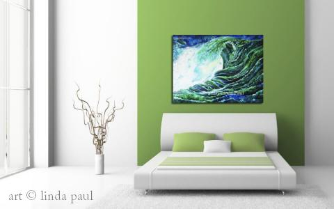 ocean art painting for beach house decor