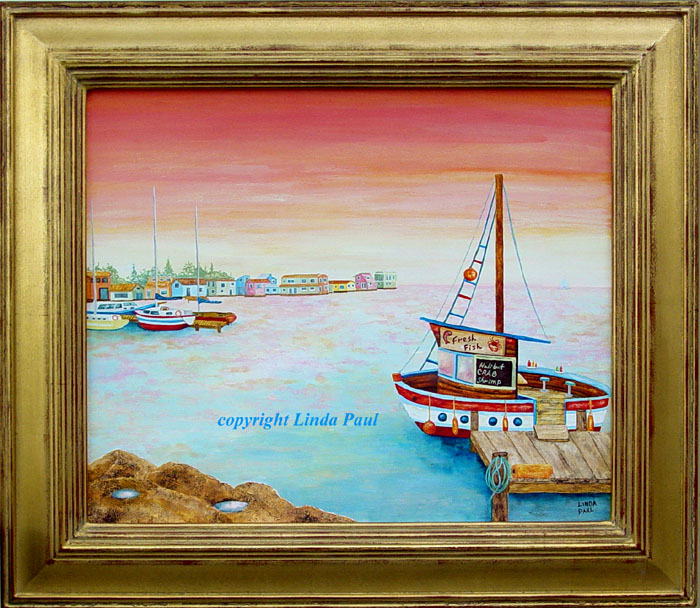 art sale fishing and sailboat paintings