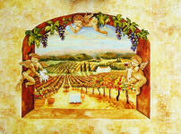 paintings of angels and vineyards