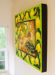 side view of lemon tree painting