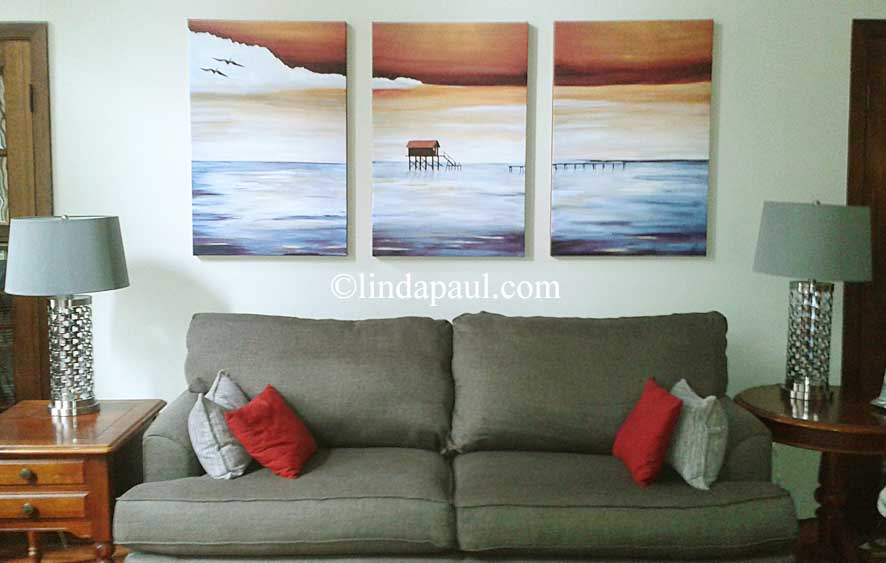 Large Wall Art Work For Sale Contemporary Seascape Canvas