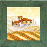 green frame and vineyard tile