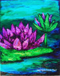 water lily study painting