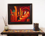 wine cellar paintings framed