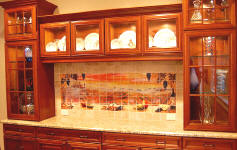 sunset over tuscany in wall cabinet