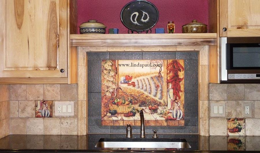 Southwest Chili Pepper Kitchen Backsplash