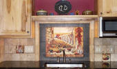 chili pepper kitchen decor mural backsplash