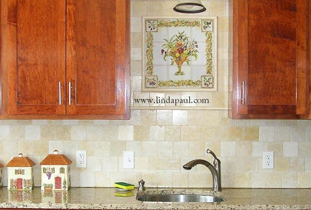 Beautiful Color Me Italian Backsplash Over Sink