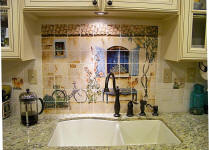 French country house backsplash