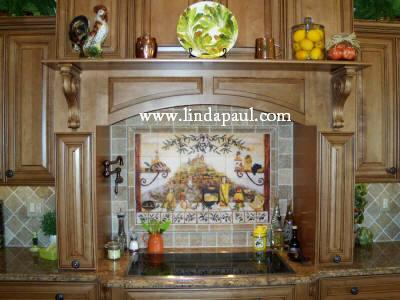 kitchen artwork on canvas or tile