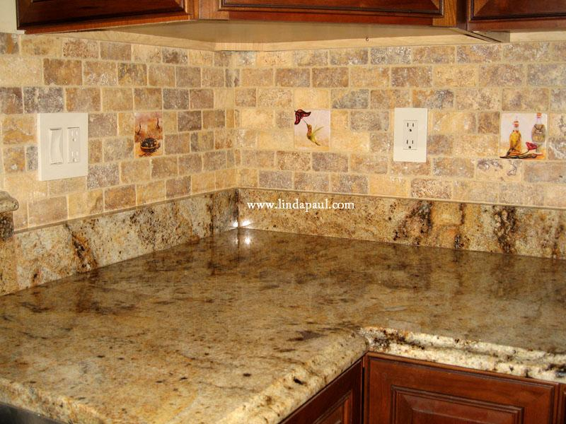 a kitchen tiled backsplash