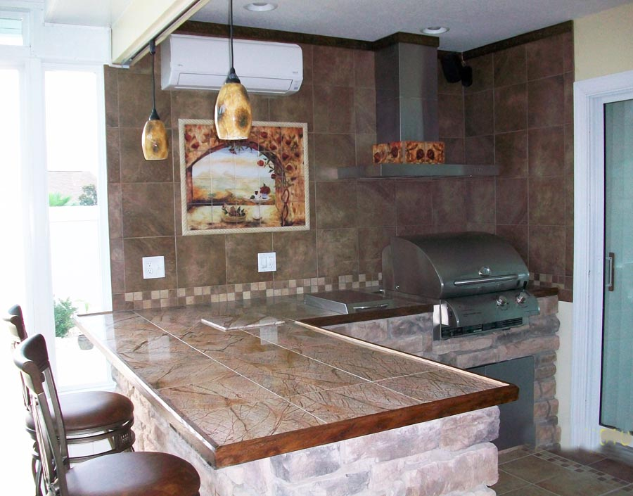 Building ideas for outdoor rooms gazebo for Outdoor kitchen backsplash ideas