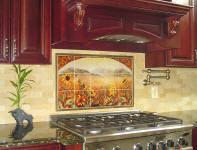 sunflowers backsplash