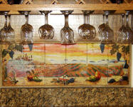 tuscany sunset bar backsplash