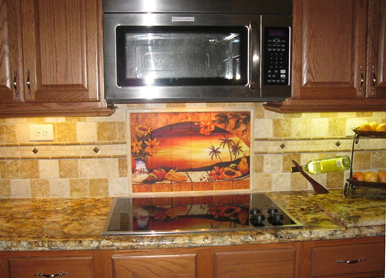 mexican tiles sunset tile murals tropical kitchen