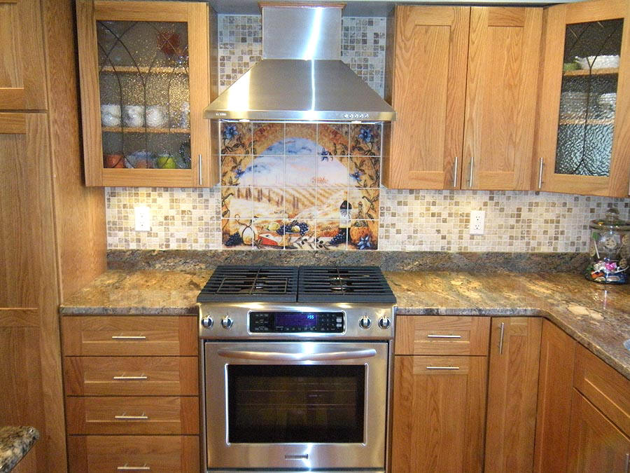 Mosaic Tile Mural Backsplash Mosaic Tile Backsplash Picture