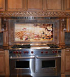 picture of wolf range and vineyard kitchen backsplash