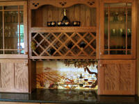 backsplash vineyard dining room buffet