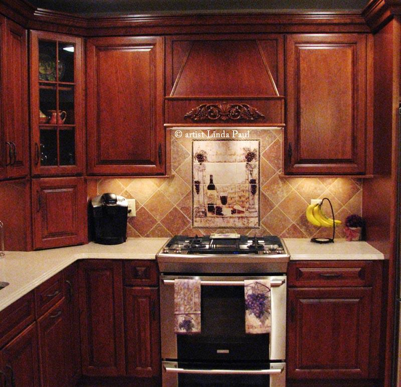 wine mural kitchen backsplash. beautiful ideas. Home Design Ideas