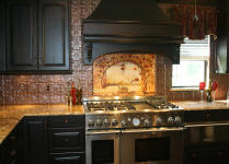 tin backsplash idea