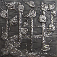 nickel silver falling leaves plaque