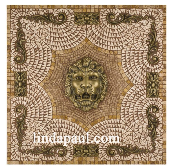 lion head medallion