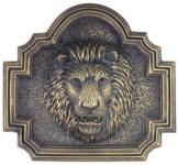 Lion head Fountain and Plaque metal