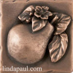 Pear Metal Accent tile