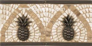 pineapple mosaic tile liner
