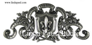 regal fleur de Lis decorative tile onlay accent