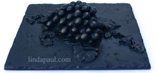 side view of grapes metal tile