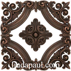 baroque frame with rachels flower center