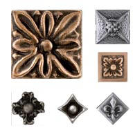 Decorative Metal Tile Accents Mosaic Jewels Collection - Decorative 4x4 metal tiles