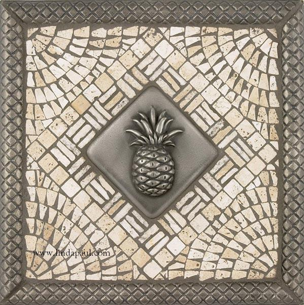 pineapple kitchen backsplash tile mosaic medallion pineapple tiles