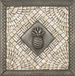 pineapple tile mosaic medallion