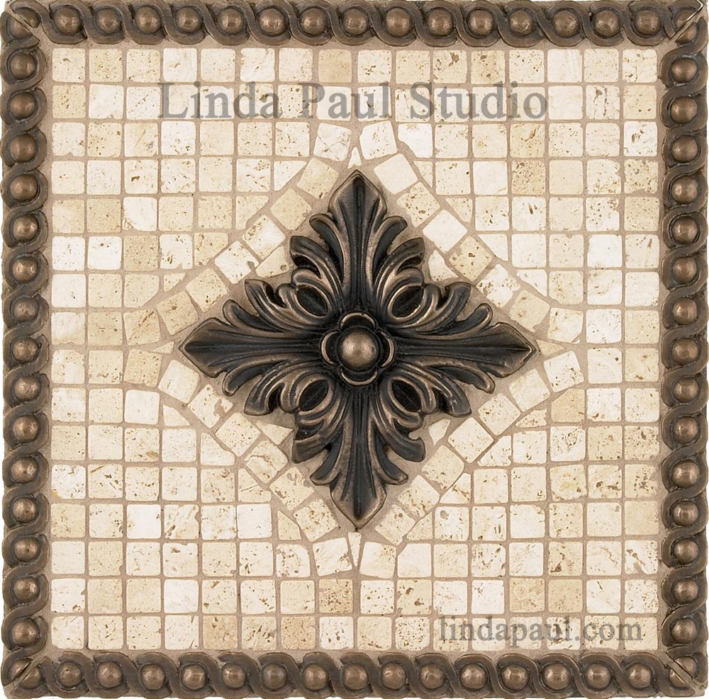 Tribecca Medallion 12 X 12 Available In Other Tile Colors And Metal Finishes
