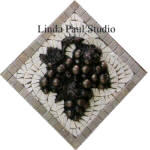grape mosaic backsplash accent deco mini medallion