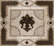 kitchen backsplash medallions - mosaic tile metal backsplashes