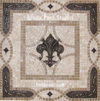 Kitchen Backsplash Medallions Mosaic Tile Metal Backsplashes
