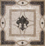 fleur de lis mosaic tile backsplash medallion