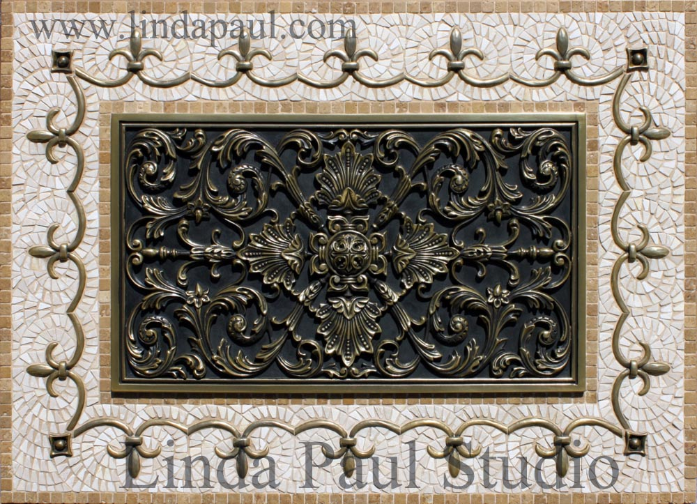 kitchen backsplash plaques ravenna decorative tile medallion. Black Bedroom Furniture Sets. Home Design Ideas