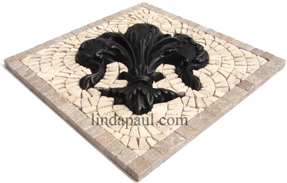 Fleur de lis floor tile