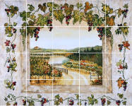 on sale grapes and vines back splash
