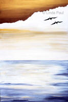 seabirds and ocean canvas art
