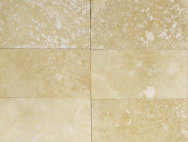 3 x 6 cream brick shaped travertine subway tile