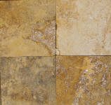 gold travertine tiles