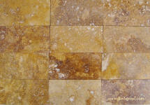 subway tile 3 x6 gold travertine